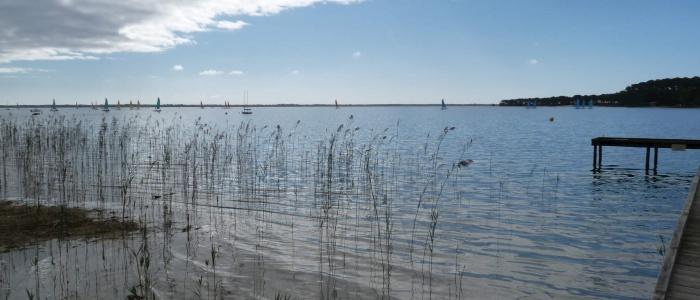 Lac de Carcans-Hourtin, à Hourtin