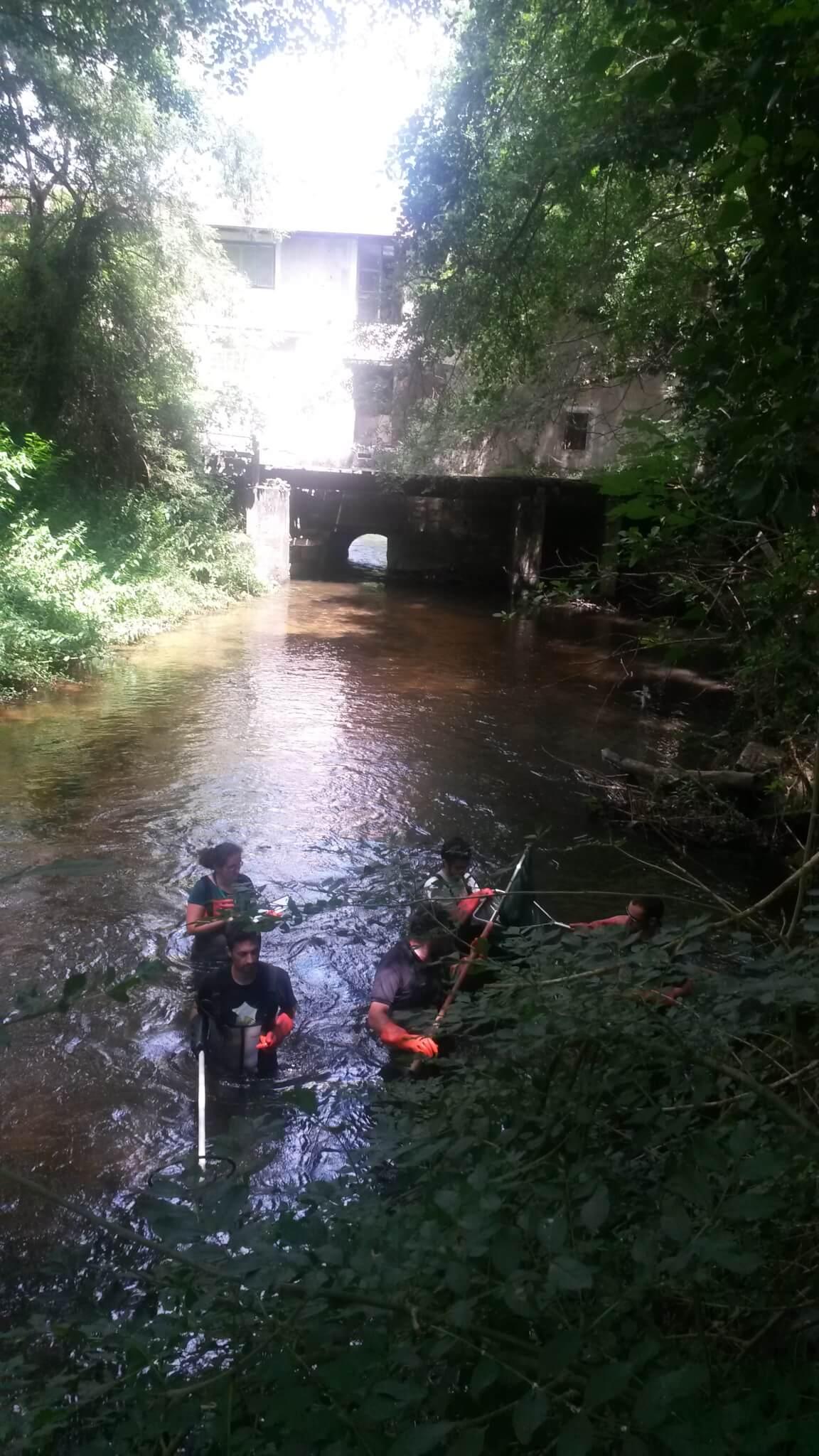 Les agents de la Fédération en pêche d'inventaire au mois de juillet