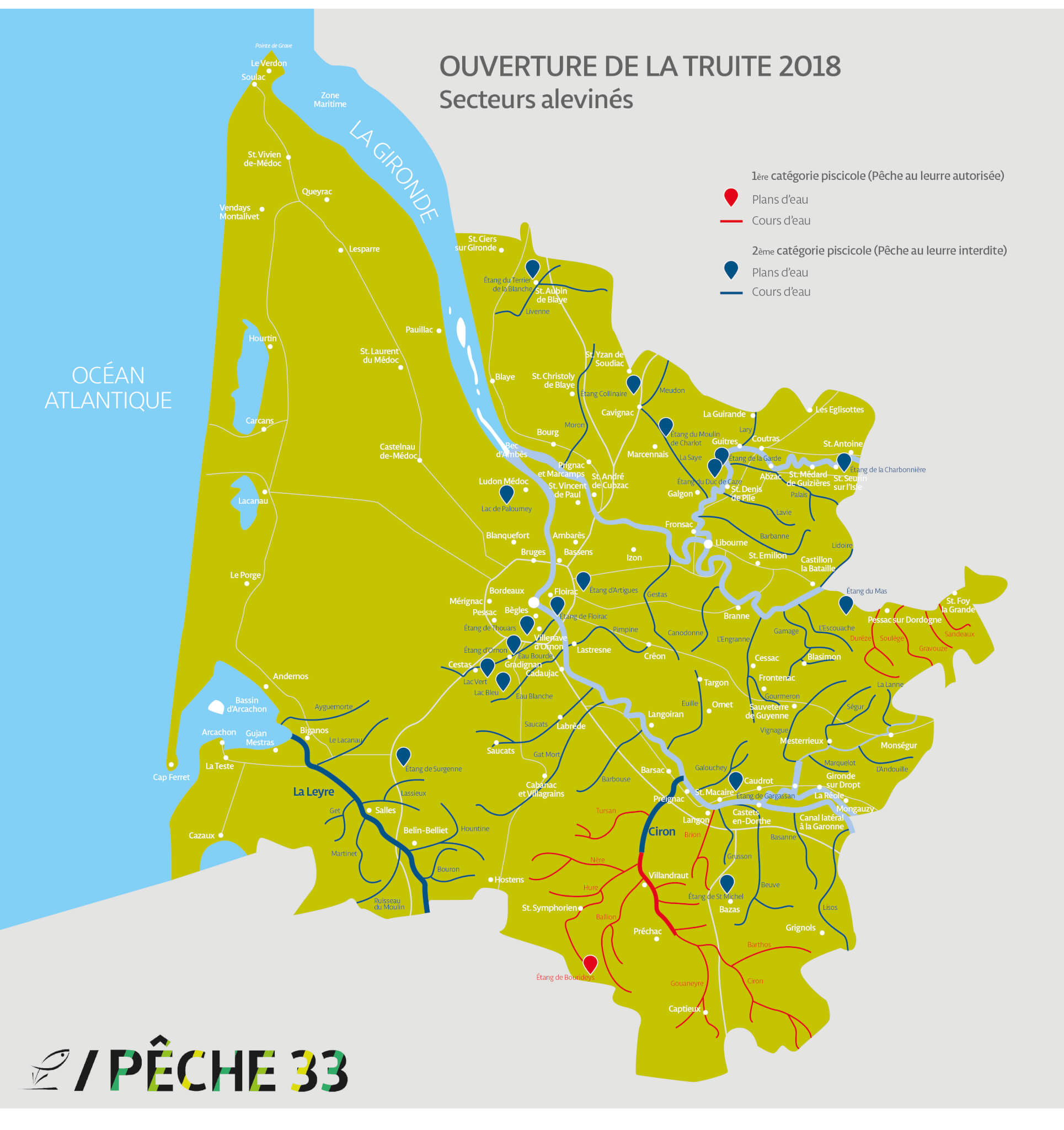 CarteGironde-Ouverture truite2018