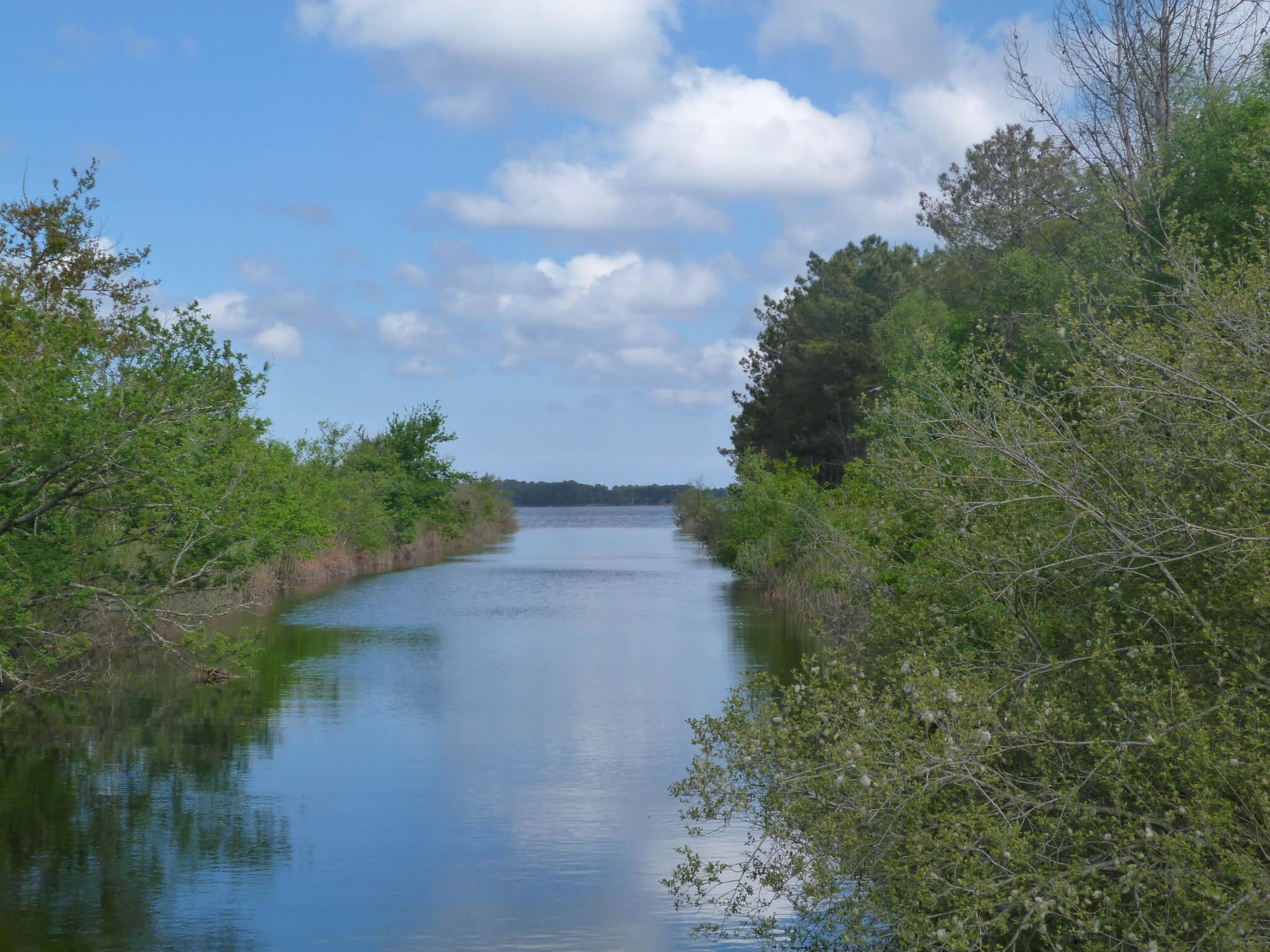 Canal du porge en dessous du lac de Lacanau