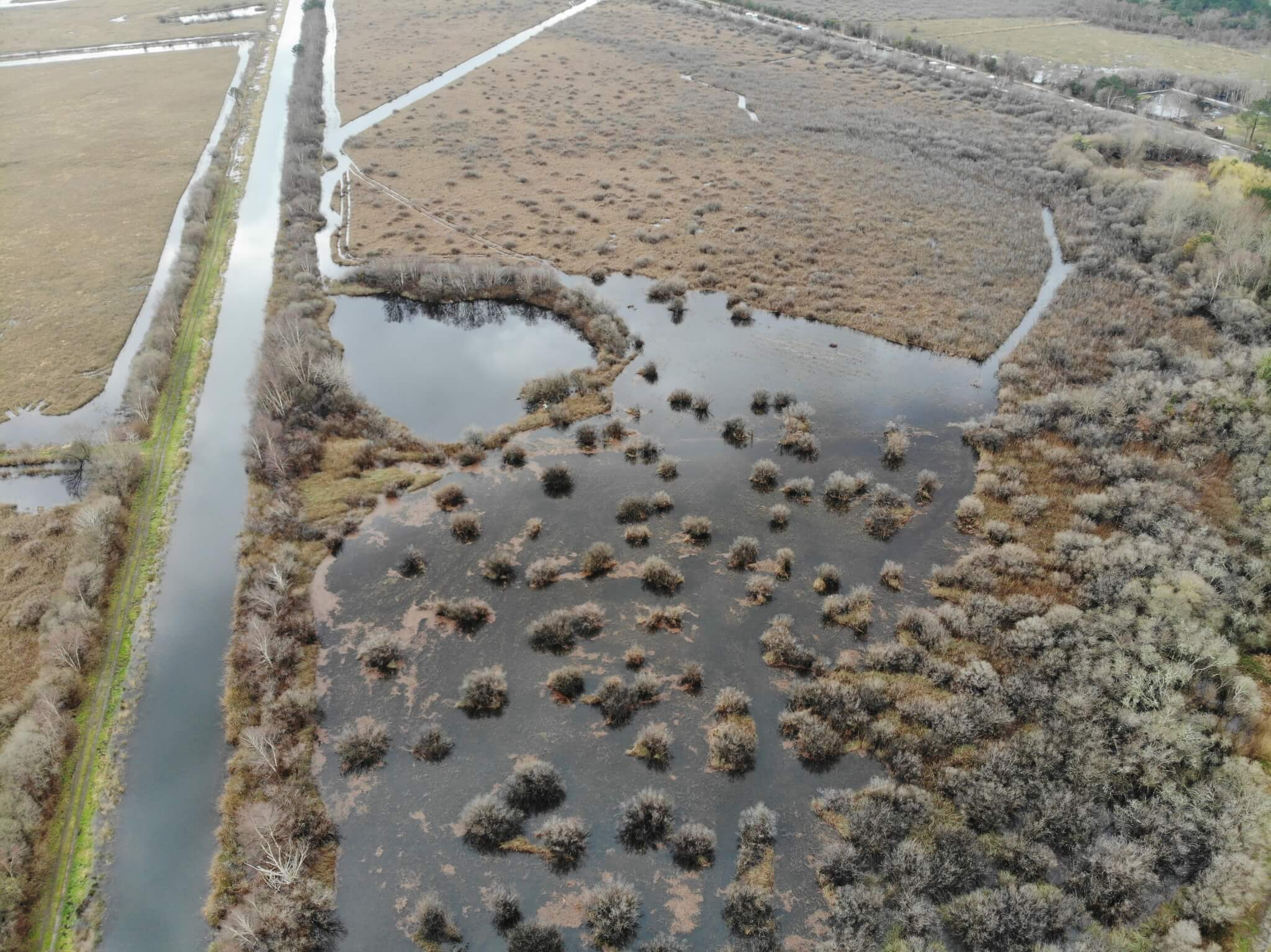 Marais de Devinas restauré et reconnecté au canal secondaire- © SIAEBVELG