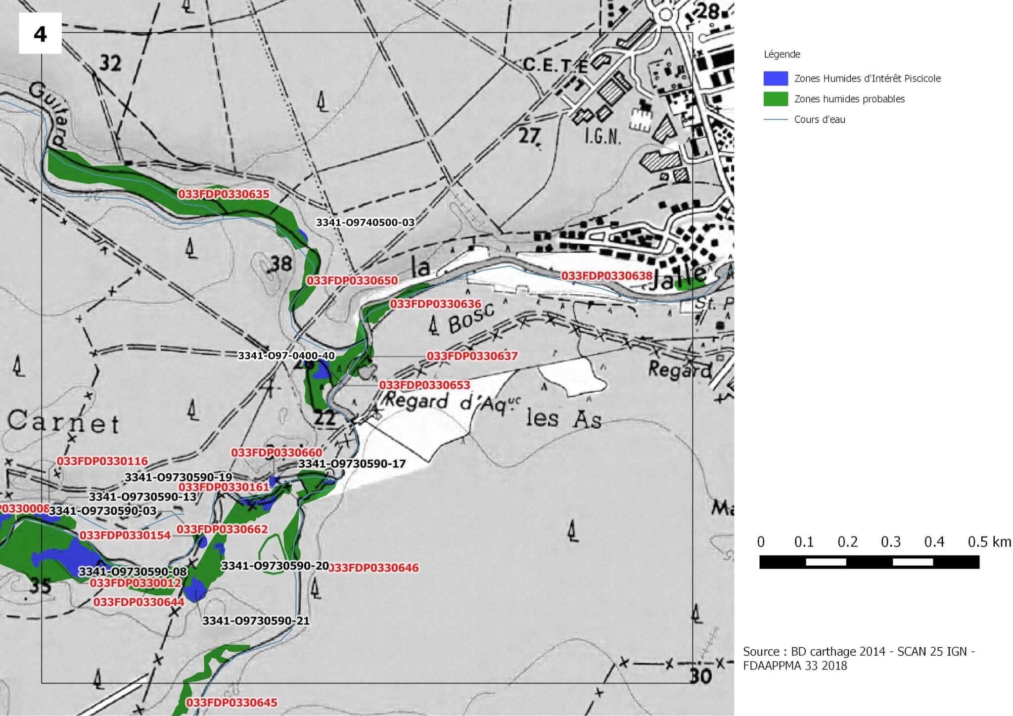 zone humide d'intérêt piscicole- Jalle de Blanquefort
