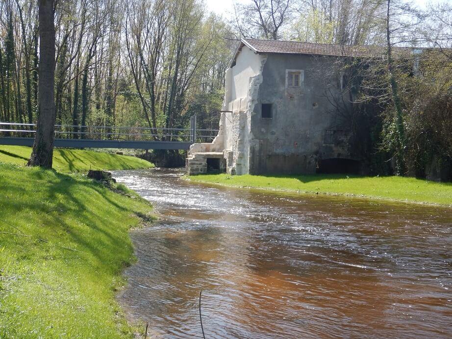 aval du moulin de Pernaud après travaux
