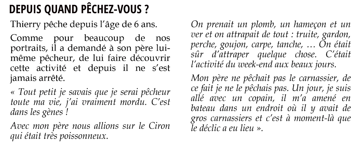 THIERRY MAHE QUESTION 1