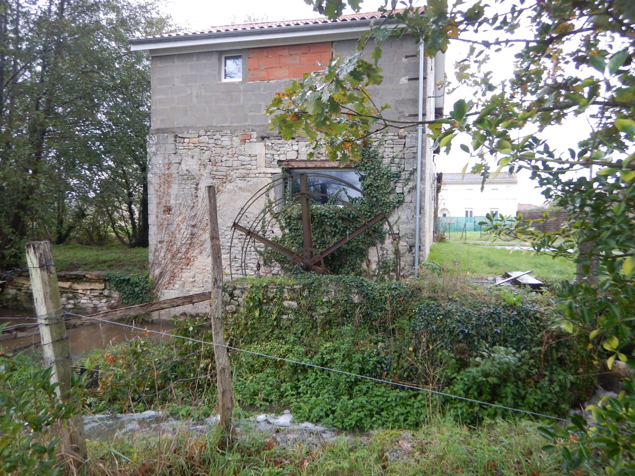 Vue sur le moulin depuis le bras gauche © FDAAPPMA33