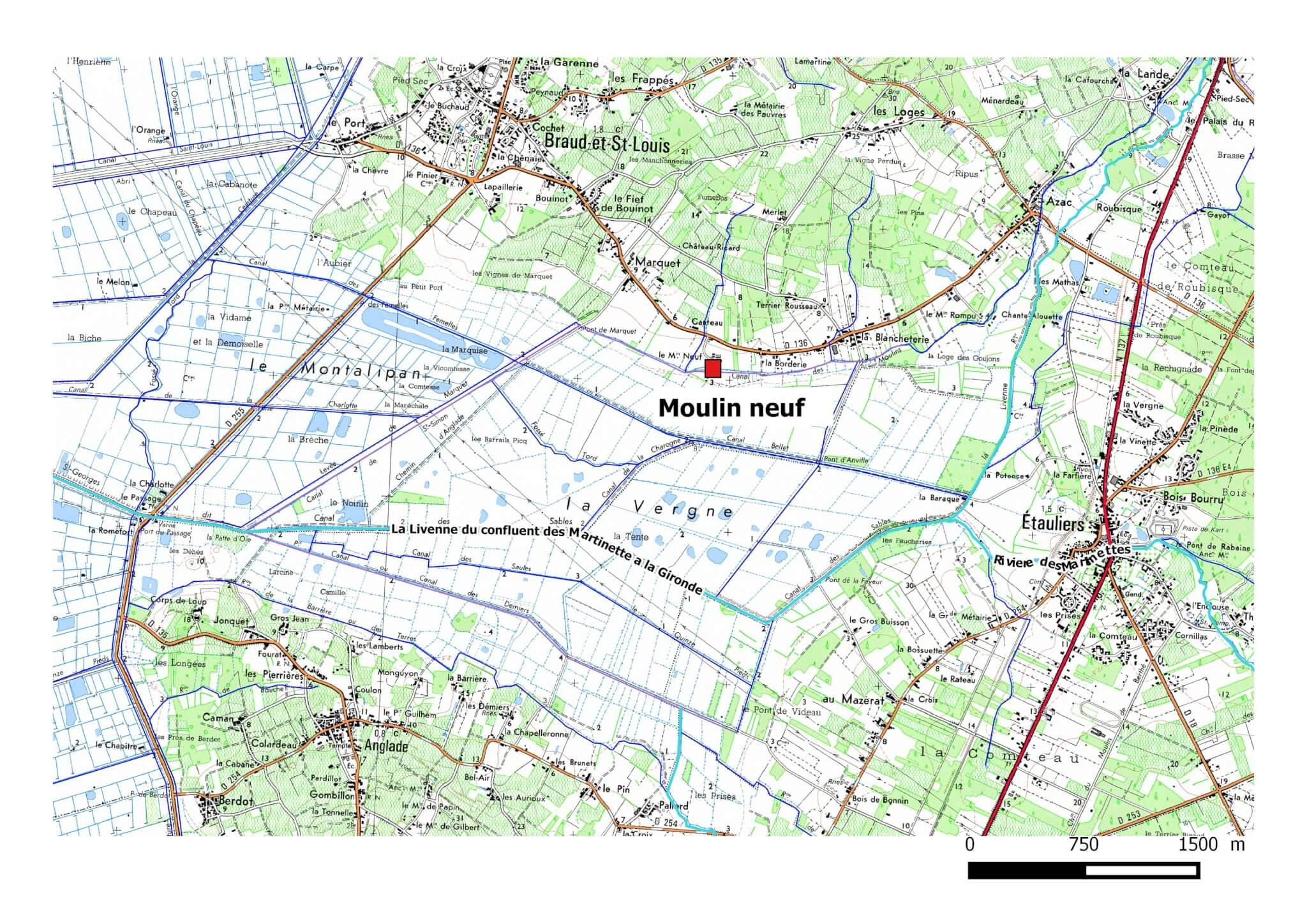 Localisation de la zone concernée sur la Livenne